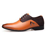 בגדי ריקוד גברים נעליים פורמליות PU סתיו חורף נעלי אוקספורד נושם שחור / צהוב / חום