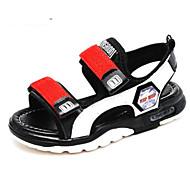 baratos Sapatos de Menino-Para Meninos Sapatos Sintéticos Verão Conforto Sandálias para Adolescente Preto / Cinzento / Vermelho