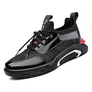 abordables Baskets pour Homme-Homme Chaussures de confort Polyuréthane Printemps Basket Noir / Noir / Rouge