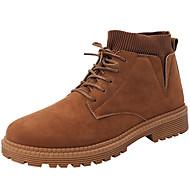 22095ca034 Hombre Zapatos Confort PU Invierno Casual Botas Antideslizante Botines    Hasta el Tobillo Negro   Beige   Marrón