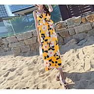 Women's Daily Sheath Dress Rainbow L XL XXL