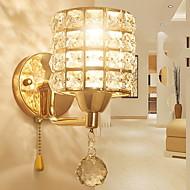 billige Krystall Vegglys-Kreativ Enkel Vegglamper Soverom / Innendørs Metall Vegglampe 220-240V 40 W