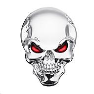 3D démon lebka kovové samolepky kostí znak odznak obtisky pro auto motorový vůz