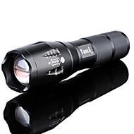 LED Flashlights LED Cree® XM-L2 بواعث 3000 lm 5 إضاءة الوضع مع البطارية والشاحن زوومابلي ضد الماء Adjustable Focus Camping / Hiking / Caving Everyday Use أخضر أسود
