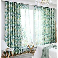 billige Gardiner ogdraperinger-gardiner gardiner Spisestue Moderne 100% Polyester Reaktivt Trykk