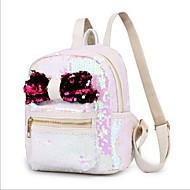 cheap School Bags-Women's Bags Polyester Backpack Zipper White / Black / Silver