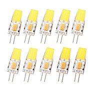 SENCART 10pcs 3 W 450 lm G4 Luces LED de Doble Pin T 1 Cuentas LED COB Impermeable Regulable Blanco Cálido Blanco Fresco 12-24 V