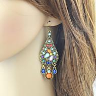 Damen Birne Tropfen-Ohrringe Ohrringe Tropfen Stilvoll Ethnisch Schmuck Regenbogen Für Alltag Verabredung 1 Paar