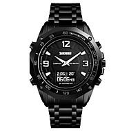 SKMEI Pánské Sportovní hodinky Náramkové hodinky Digitální hodinky Digitální Nerez Černá / Stříbro 30 m Voděodolné Alarm Kalendář Analog - Digitál Luxus Módní - Černá Stříbrná Jeden rok Životnost