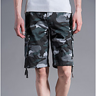 Bărbați Șic Stradă Mărime Plus Size Pantaloni Scurți Pantaloni - camuflaj Gri