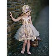 فستان بدون كم منقط أساسي للفتيات أطفال / قطن