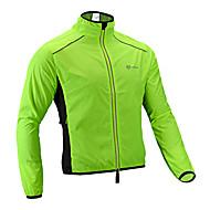 ROCKBROS Hombre Chaqueta de Ciclismo Bicicleta Impermeable Impermeable Transpirable Deportes Color sólido Negro / Naranja / Verde Ropa Corte Ancho Ropa para Ciclismo Impermeable / Microelástico