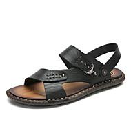 Hombre Zapatos Confort PU Verano Clásico / Casual Sandalias Paseo Transpirable Amarillo / Morrón Oscuro / Caqui