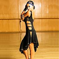 Latein-Tanz Kleider Damen Leistung Elasthan Horizontal gerüscht Ärmellos Kleid