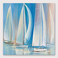 Hang-geschilderd olieverfschilderij Handgeschilderde - Abstract Modern Inclusief Inner Frame