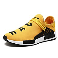 cheap -Men's Light Soles Canvas / Mesh Spring & Summer Sporty / Casual Athletic Shoes Running Shoes / Walking Shoes Breathable Black / Yellow / Red / Non-slipping / Shock Absorbing / Wear Proof