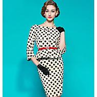 מידי דפוס, מנוקד - שמלה נדן אלגנטית בגדי ריקוד נשים