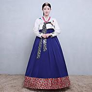 Hanbokpige Voksne Dame Asiatisk Traditionel koreansk Jeogori hanbok Magoja Til Ydeevne Forlovelsesfest Polterabend Bomuld Lang Længde Nederdel