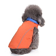 Hunde Frakker Jakke Hundetøj Ensfarvet Lilla Rosa Blå Terylene Kostume Til Corgi Beagle Bulldog Efterår Vinter Mand Dame Sport og udendørs Opvarmninger