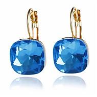 Dames Oorknopjes Gesimuleerde diamant oorbellen Elegant Sieraden Groen / Blauw / Lichtbruin Voor Bruiloft Verloving Causaal Uitgaan Bikini 1 paar