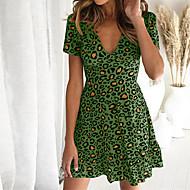 Damen Grundlegend Hülle Kleid Leopard Mini