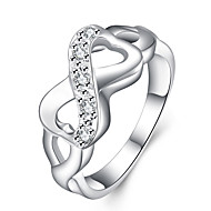 Dámské X ring Vyzvánění Postříbřené Slitina Nekonečno dámy Přizpůsobeno Luxus Jedinečný design Fashion Ring Šperky Stříbrná Pro Svatební Párty Dar Denní Plesová maškaráda Zásnuby 6 / 7 / 8 / 9 / 10
