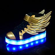 เด็กผู้ชาย / เด็กผู้หญิง รองเท้า PU ฤดูใบไม้ผลิ / ตก ความสะดวกสบาย / Light Up รองเท้า รองเท้าผ้าใบ ลูกไม้ขึ้น สำหรับ เด็ก / วัยรุ่น สีทอง / ลายบล็อคสี