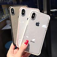 Etui Til Apple iPhone XR / iPhone XS Max Stødsikker / Gennemsigtig Bagcover Glitterskin Blødt TPU for iPhone XS / iPhone XR / iPhone XS Max
