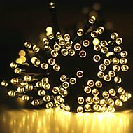 20m Fili luminosi 200 LED 1Impostare la staffa di montaggio Bianco caldo / Luce fredda / Colori primari Impermeabile / Solare / Feste Ad energia solare 1 set
