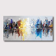 Hang-pictate pictură în ulei Pictat manual - Abstract Contemporan Modern Includeți cadru interior
