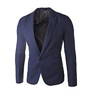 Herrn Blazer, Solide Hemdkragen Polyester Purpur / Leicht Blau / Königsblau XL / XXL / XXXL