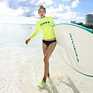 Per donna Tankini Protezione solare UV Antivento Ultra leggero (UL) Chinlon Manica lunga Costumi da bagno Abbigliamento mare Costumi da bagno Scafandri Tinta unita Nuoto / Elasticizzato