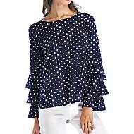 Women's Plus Size Shirt - Polka Dot Black