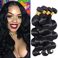 4 Paket Hintli Saçı Vücut Dalgası % 100 Remy Saç Örgü Demetleri İnsan saç örgüleri Uzatıcı Paketi Saç 8-28 inç Doğal Renk İnsan saç örgüleri Dans Düz Yeni gelen İnsan Saç Uzantıları Kadın's