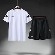 Pánské Fotbal Fotbalový dres a šortky Celotělové oblečení Prodyšné Ter Emen Týmové sporty Aktivní trénink Fotbal Jednobarevné Polyester Dospělí Žlutá Červená Modrá