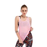 Damen Yoga Top Grün Rosa Sport Volltonfarbe Weste / Fahrradweste Oberteile Yoga Laufen Fitness Ärmellos Sportkleidung Atmungsaktiv Rasche Trocknung Schweißableitend Dehnbar Lose