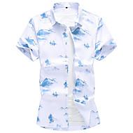 Pánské - Geometrický Košile Bílá XXXXL