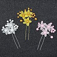 Akryl Hårspænde med Blomst 1 stk Bryllup Medaljon