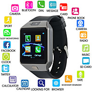 cheap -Kimlink DZ09S Men Smartwatch iOS Bluetooth Touch Screen Calories Burned Hands-Free Calls FM Radio Camera Stopwatch Pedometer Call Reminder Activity Tracker Sleep Tracker / Android / 0.3 MP