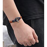 Herrn Damen Retro Lederarmbänder Armband Leder Fische Retro Modisch Armbänder Schmuck Schwarz / Braun / Blau Für Geschenk Alltag Party Karnival Strasse