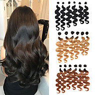 6 pakietów Włosy brazylijskie Body wave Włosy naturalne remy Fale w naturalnym kolorze Ombre Pakiet włosów 8-24 in Ludzkie włosy wyplata Miękka Rozbudowa Najwyższa jakość Ludzkich włosów