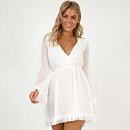 kvinder over knæ slank en linje kjole dyb v hvid sort s m l xl