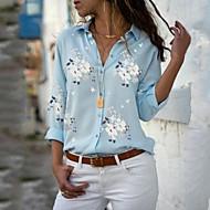 Kadın's Gömlek Desen, 3D / Grafik Beyaz XXXL