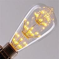 3 W LED Glühlampen 200 lm E26 / E27 ST64 47 LED-Perlen COB Dekorativ sternenklar Weihnachtshochzeitsdekoration Warmes Weiß 85-265 V, 1pc / RoHs
