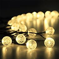 1 conjunto led lanterna luz solar corda 15 m 100 luz bolha bola ao ar livre luz à prova d 'água jardim decoração luz