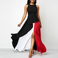 Χαμηλού Κόστους -Γυναικεία Θήκη Φόρεμα - Συνδυασμός Χρωμάτων Μακρύ