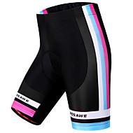 baratos -WOSAWE Mulheres Bermudas Acolchoadas Para Ciclismo Moto Shorts Shorts Acolchoados Calças A Prova de Vento Respirável Tapete 3D Esportes Riscas Poliéster Elastano Preto Ciclismo de Montanha Ciclismo