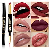 Marka dnm çift kafa ruj dudak kalemi çok fonksiyonlu inci mat ruj kalem su geçirmez uzun ömürlü dudak makyaj