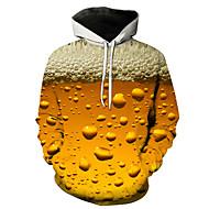 povoljno -Muškarci Ležerne prilike / Ulični šik Hoodie Color block / 3D S kapuljačom