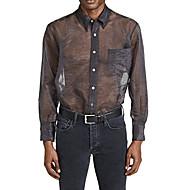 Herre - Ensfarvet Basale Plusstørrelser Skjorte Mørkegrå